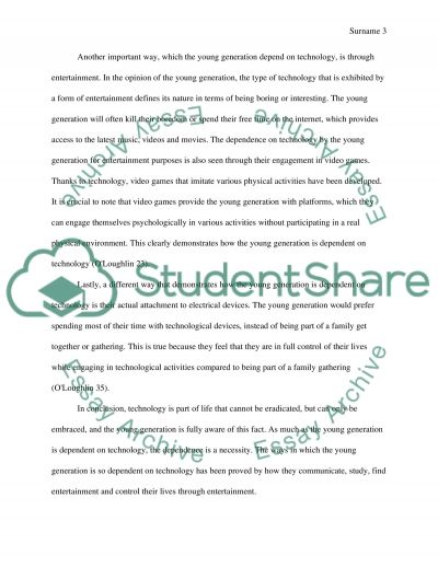 essay in dependence from computers