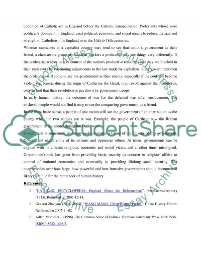 Reasons for trust Government essay example