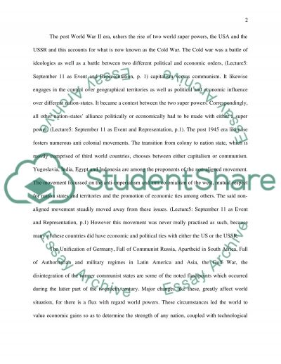 In the Midst of the War against Terrorism essay example