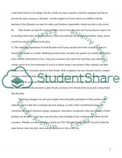 Consumer behavior essay example