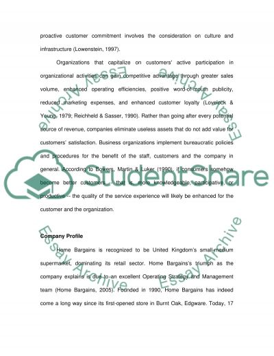 Marketing Strategies of Home Bargains essay example