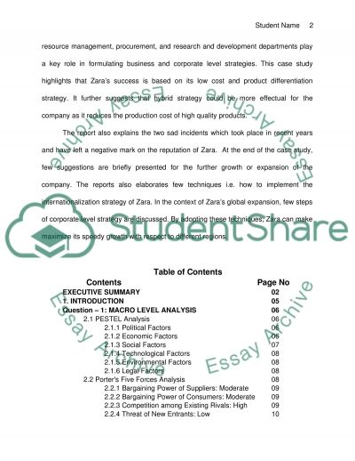 Zara Case report  Essay example