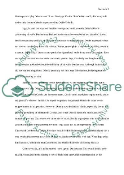 otello literary essay William shakespeare about othello english literature essay william shakespeare about othello english literature essay william shakespeare was born in stratford-upon-avon england in 1564 his father was a middle-class low officer he was went to in a reputable grammar college and studied basic literature that he used as the basis for his has.