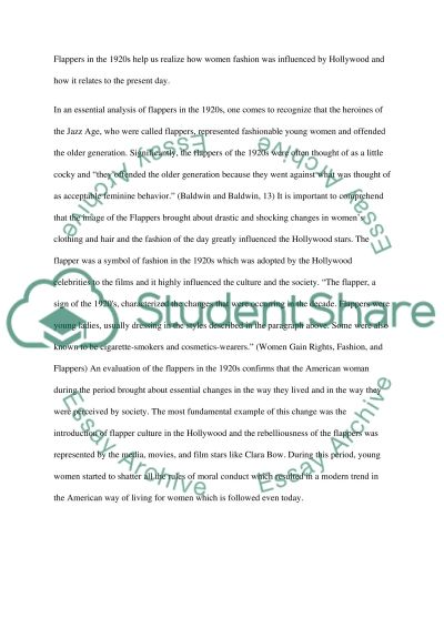 Flappers and 1920s essay example