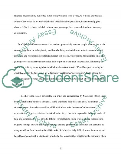To be labeled or not be labeled essay example