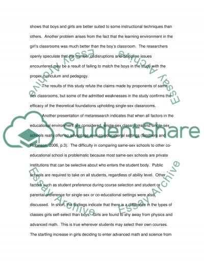 Single-Sex Education essay example