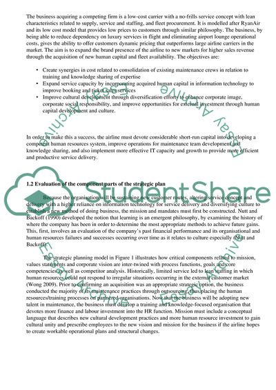 Organisational and strategic management project