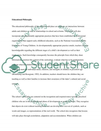 Dream School Term Paper