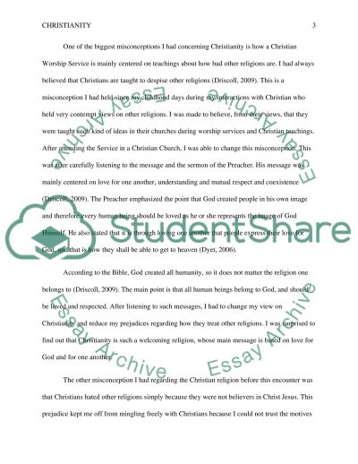 Report on Religious Field Research essay example