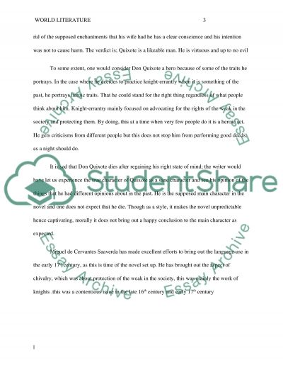 don quixote character analysis essay example topics and well  don quixote character analysis essay example text preview