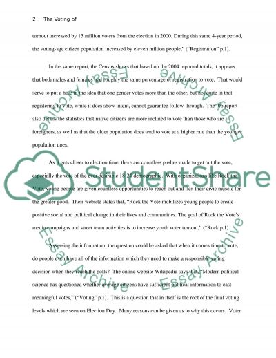 The Voting of Many But Not All essay example
