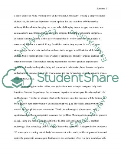 Mobile Application for City Target essay example