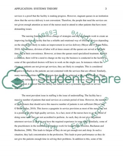 Application: Systems Theory essay example