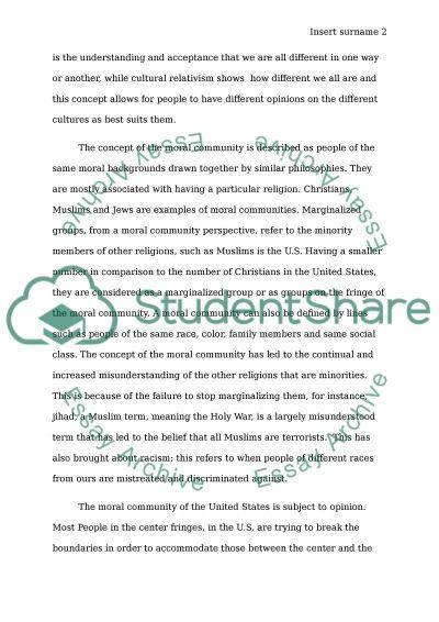 Cultural Relativism essay example