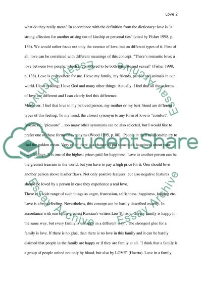 A Definition Essay On Love Research Paper Example Topics And Well