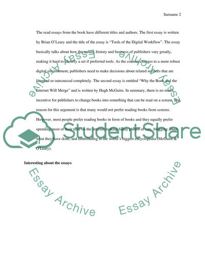 Reading Response and Thinking about Research Questions Essay
