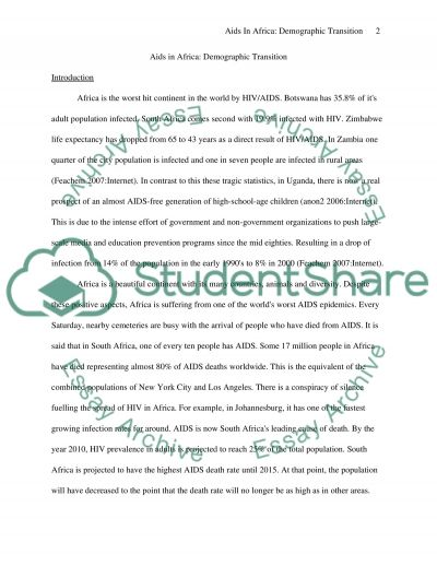 AIDS Epidemic in Africa essay example
