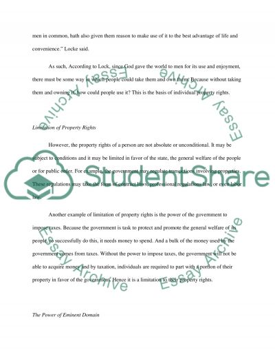 Property Rights essay example