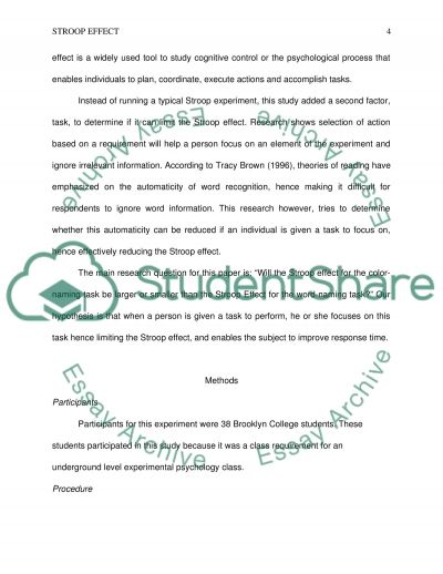 stroop effect research paper Stroop effect research paper now education available to act with network.