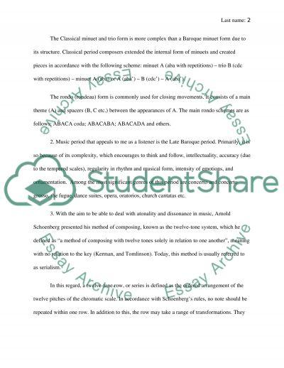 3 short essays
