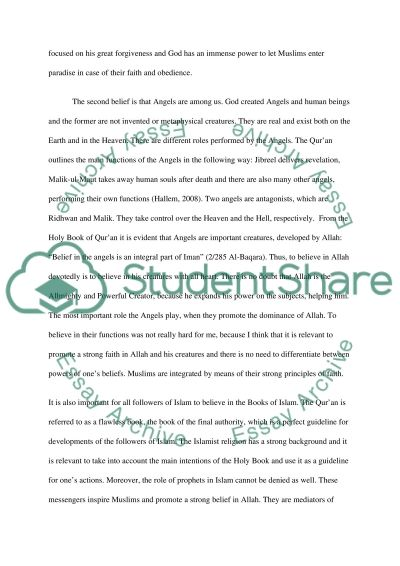 Critical Reflection Paper: Iman and Shariah essay example