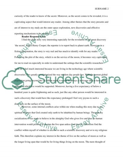 Close Reading/Reading Response Essay Example | Topics And Well