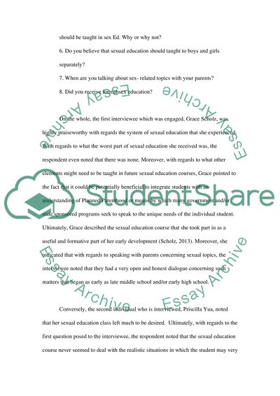 Synthesis Essay Prompt Sex Education How To Write A Thesis Statement For An Essay also General Paper Essay Sex Education Essay Example  Topics And Well Written Essays    Compare And Contrast Essay Examples For High School
