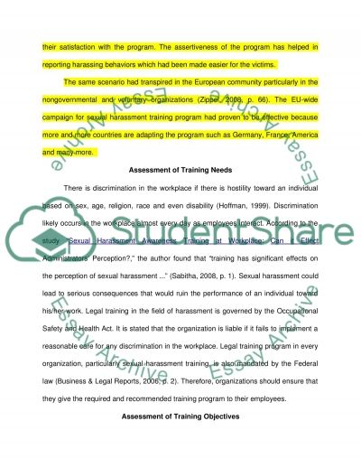 Legal Training Program (for Human Resource Management Class) essay example