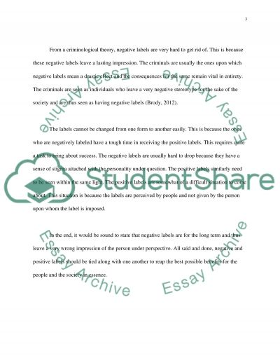LABELS essay example