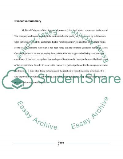Macdonalds essay example