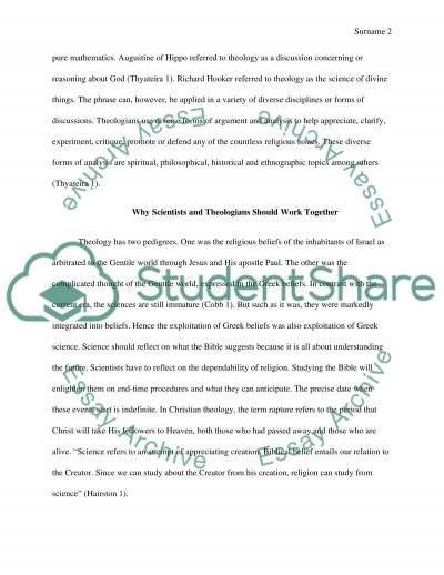 Why Science and Theologians Should Work Together essay example