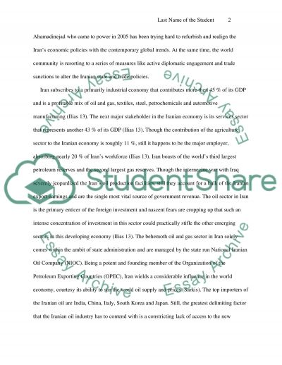 Politics of Globalization and Iran essay example