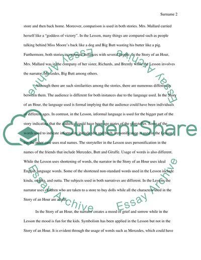 Comparison / contrast essay