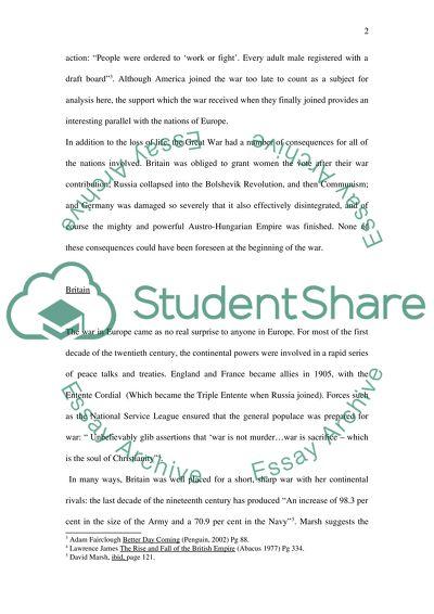 world war essay topics