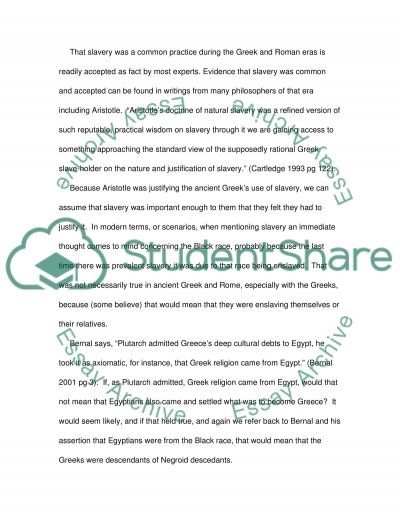The Ancient View of Blacks essay example