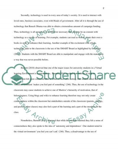 Integrating Instructional Technology essay example