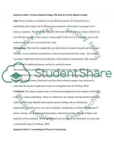 Process Costing essay example