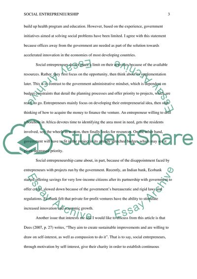 Cheap Essay Papers Social Entrepreneurship  Essay Example Apa Format For Essay Paper also What Is An Essay Thesis Social Entrepreneurship Essay Example  Topics And Well Written  How To Write A Thesis Sentence For An Essay