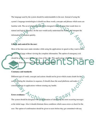 Evaluation and presentation