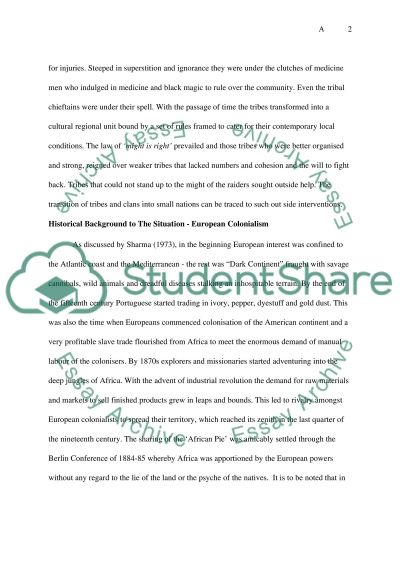 Political science - Africa essay example