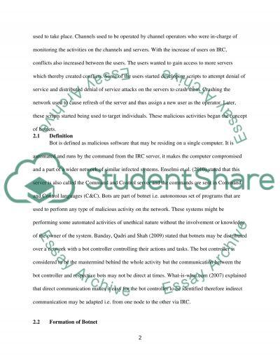 BOTNETS essay example