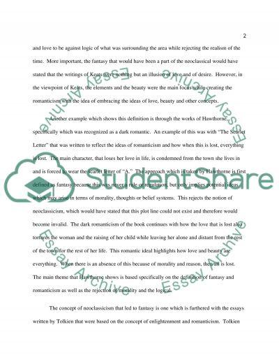 Romanticism hsc essay questions