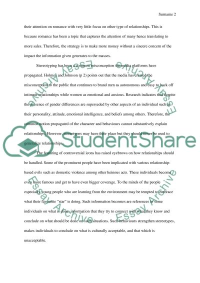 Popular Press Vs. Research in relationship advice essay example
