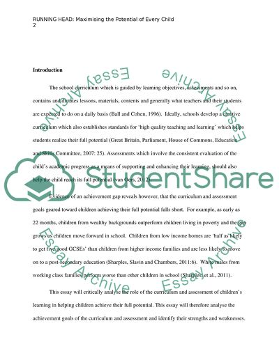 assessment in the classroom essay