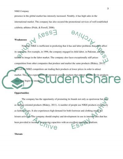Strategy Formulation - NIKE essay example
