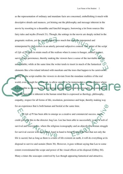 film review life of pi movie example topics and well written  film review life of pi essay example