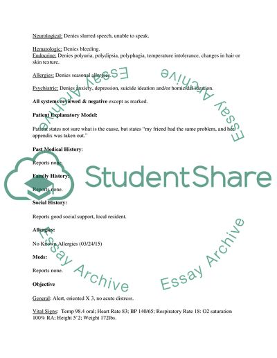 SOAP Essay Example | Topics and Well Written Essays - 250 words