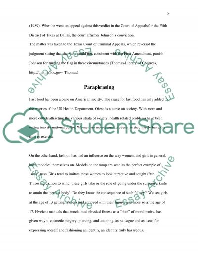 Summarizing and Paraphrasing Activity essay example