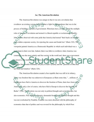 Take home mid term (nonresearch other than course readings) essay example