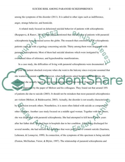 schizophrenia research paper title This sample schizophrenia research paper is published for educational and  informational purposes only if you need help writing your assignment, please  use.